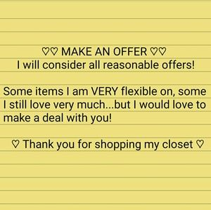 """Other - Don't hesitate to click the """"OFFER"""" button!"""